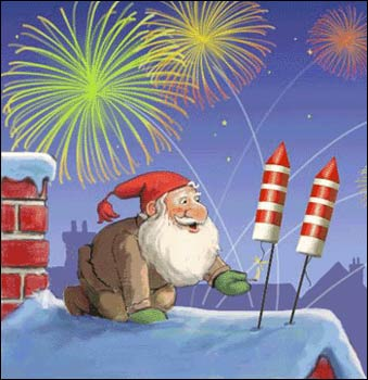 смешные поздравительные рисунки с новым годом