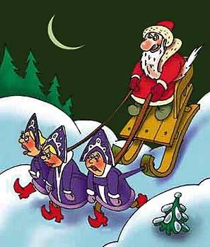веселые новогодние рисунки