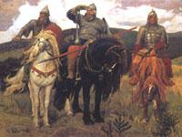 картина Васнецова 'Три богатыря'